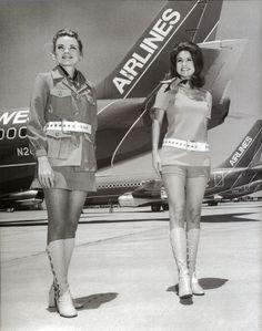 Southwest Airlines stewardesses, 1970s (via flightglobal.com)