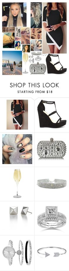 """""""Maya Davis at Philip Wheeler and Ashley's Engagement"""" by safia4life ❤ liked on Polyvore featuring Music Notes, Annello, SO & CO and Bling Jewelry"""