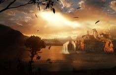 Matte painting created by David Luongt for 'Temple of Knowledge' project.