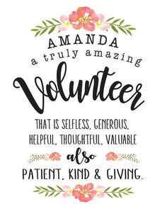 Volunteer gift, Volunteer appreciation, Volunteer thank you, Volunteer present, Volunteer printable Volunteer Appreciation Gifts, Appreciation Message, Volunteer Gifts, Volunteer Week, Volunteer Ideas, Employee Appreciation, Youth Volunteer, Volunteer Groups, Thank You Volunteers