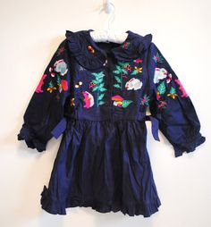Woodland embroidery vintage Boys And Girls Clothes, Cute Baby Clothes, Little Dresses, Blue Dresses, Kid Styles, Kids Wear, Baby Dress, Mini, Kids Fashion