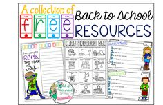 A Collection of Back to School FREE Resources!!