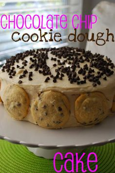 Chocolate Chip Cookie Dough Cake...i like the icing recipe in this one