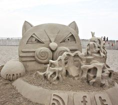 Hampton Beach, New Hampshire - Annual Sandcastle Competition Photo Gallery - Sand Castle Sculpting New England