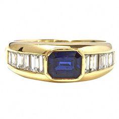 dd39f89aea2b Tiffany Sapphire and Diamond Engagement Ring. Excellent sapphire. Deep