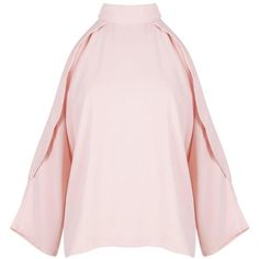 Boohoo Ruby Open Shoulder High Neck Blouse | Boohoo ($21) ❤ liked on Polyvore featuring tops, blouses, long sleeve crop top, crop top, long sleeve cold shoulder tops, cold shoulder tops and high neck crop top