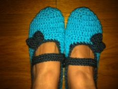 Mary Jane Crochet Slippers