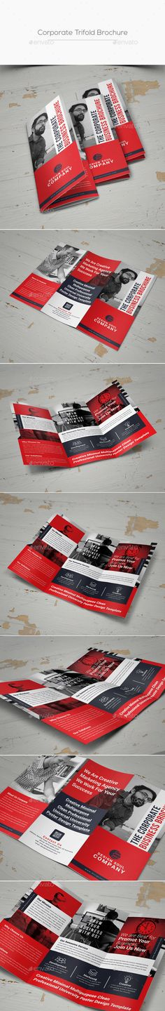 Trifold Brochure — Photoshop PSD #multipurpose #product • Available here → https://graphicriver.net/item/trifold-brochure/20359930?ref=pxcr