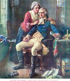 """Before The Dawn"" (Valley Forge 177-78) by J.L.G. Ferris-George and Martha Washington"