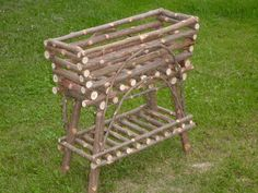 Rustic Twig Furniture Cedar Plant Stand Maine Handcrafted.