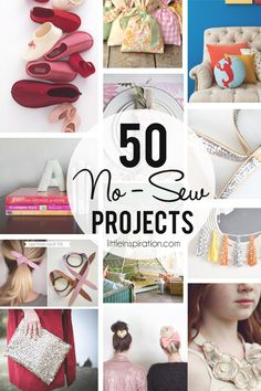 50 No-Sew Projects! » LittleInspiration.com