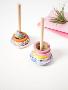 ... going back to school or just organizing your work space, this DIY Washi tape holder will keep your desk clutter-free so you can get down to business!