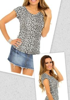 Black and White Leopard Top -Get it at www.facebook.com/anjboutique LIKE our page to keep up with our promotions!