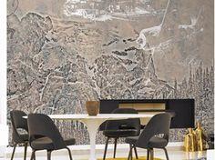 Panoramic landscape wallpaper TORA TORA - Inkiostro Bianco