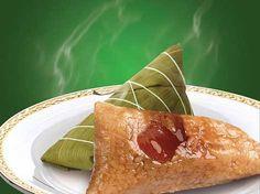 Taiwanese: Pyramid-Shaped Glutinous Rice Dumplings (Zongzi)