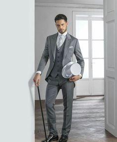 Groomsmans Light Grey With Top Hat Wedding Suit Idea S For Men