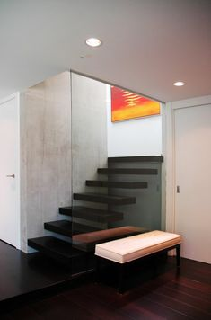 Love me some floating stairs...Vancouver Special Renovation by Iconstrux Architecture » CONTEMPORIST