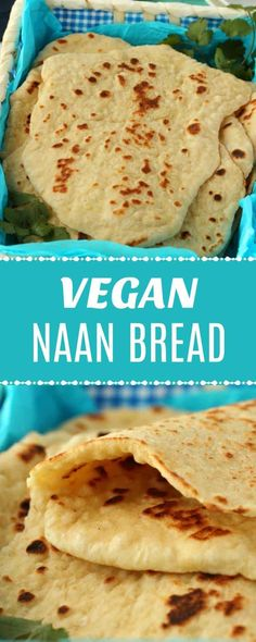 Super easy vegan naan bread is soft and fluffy with this simple recipe. It makes the perfect accompaniment to a delicious curry or just as is! Full of wonderful flavor, this naan is absolutely the best and totally vegan! Healthy Vegan Snacks, Vegan Appetizers, Delicious Vegan Recipes, Vegan Foods, Vegan Dishes, Vegetarian Recipes, Easy Vegan Snack, Vegan Recepies, Vegetarian Curry