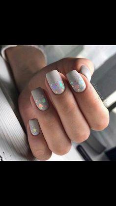 Fancy Nails, Cute Nails, Pretty Nails, Glitter Gradient Nails, Galaxy Nails, Shellac Nails, Acrylic Nails, Nail Polish, Diy Ongles