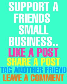 It's so easy to support small businesses. Give a post a like, tag a friend, share a post or leave a comment. For help or tips growing your social media accounts check out our website Support Small Business, Small Businesses, Social Media, Website, Tips, Easy, Check, Small Business Resources, Social Networks