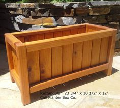 Beautiful Solid Redwood Planter Boxes by CaliPlanterBoxCo on Etsy, $82.00
