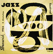 Jazz in Germany - rare record album covers with trumpets. ♫
