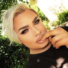 Dope Makeup, Makeup Looks, Hair Makeup, Bold Brows, Bare Face, Unique Faces, Makeup Swatches, Pretty Men, False Lashes