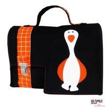 a053b37057 CArtable maternelle original canard motifs carreaux pop vintage orange  fermoir décalé garçon mixte
