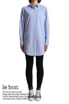 le bon klein shirt(블루체크) : long&boxy http://www.le-bon.co.kr
