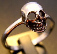 Sterling Silver Skull Ring by FranticJewelry on Etsy, $65.00