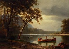 Albert Bierstadt Salmon Fishing on the Cascapediac River painting for sale, this painting is available as handmade reproduction. Shop for Albert Bierstadt Salmon Fishing on the Cascapediac River painting and frame at a discount of off. Quebec, Albert Bierstadt Paintings, Canvas Art Prints, Painting Prints, Rio, Sports Painting, Hudson River School, River Painting, Salmon Fishing