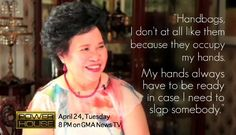 And why she prefers shoes over handbags. | 14 Inspirational Times Miriam Defensor-Santiago Was Your Spirit Human