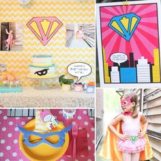 A Vintage Girlie Superhero Party: While we've never met Vita, the birthday girl who wanted to be a superhero for her party, we're kind of in love with her. Not only does she rock a cape and mask with serious style, but she inspired this amazing vintage-girlie superhero party! Keep clicking for all of the details, including amazing printables from Anders Ruff; a cape from Annie of Kid Kapers (the birthday girl's aunt); and amazing photography from Molly B, Vita's mom. Vita, can we come to…