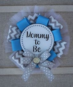 Blue and Gray Mommy to Be Corsage, Blue and Gray Mommy to Be Pin, Blue and Gray Baby Shower Pin, Ribbon Corsage, Baby Boy Shower Corsage by TrendyTrinketsbyRnR on Etsy https://www.etsy.com/listing/592767529/blue-and-gray-mommy-to-be-corsage-blue
