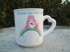 Vintage Care Bears Mug with Heart Handle by TheHoneysuckleTree