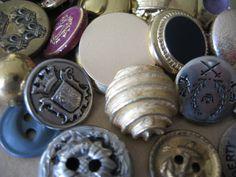 vintage metal buttons