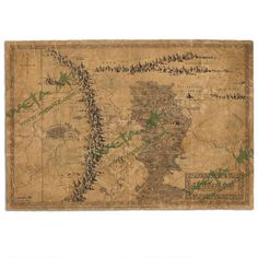 One of my favorite discoveries at HobbitShop.com: The Hobbit: An Unexpected Journey Map of Wilderland Parchment Art Print by Weta