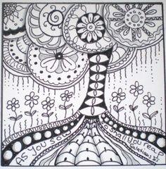 Art - B - Doodle Tree - by Lana