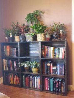 12 Ideas How To Make DIY Crate Bookshelf