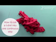 How to cut a t-shirt into one continuous strip