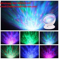 Ocean Wave Projector Home & Garden Remote Control Night Light Lamp 7 Colorful Projector... Lamps, Lighting & Ceiling Fans