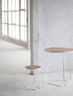 serax new collection for 2014 // sleek belgian design by studio simple // oak and white lacquered steel