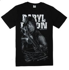 The Walking Dead Daryl Dixon Winged Back Tshirt Sleeve Style: Regular Material: Cotton Collar: O-Neck Sleeve Length: Short