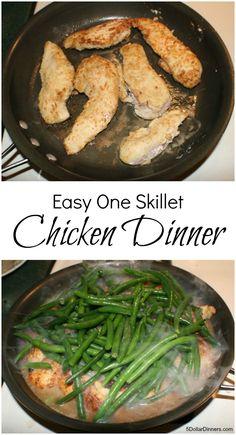 Easy One Skillet Chicken Dinner | 5DollarDinners.com