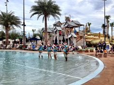 Gaylord Palms Singers in the Cypress Springs Family Fun Water Park at the Christmas in July Event.