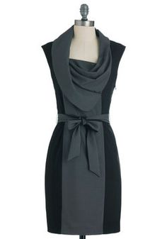 bought this one, too! New Hire and Higher Dress in Greyscale, #ModCloth