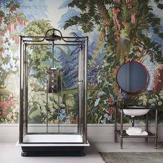 vintage bathroom with independent shower