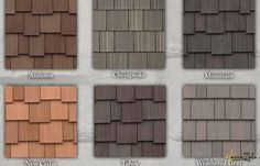 By DaVinci Roofscapes, amaZulu& Faux Cedar Shake Tiles are a multi-width, composite cedar shake roofing material reminiscent of natural cedar shake. Cedar Shingle Siding, Cedar Shake Siding, Cedar Roof, Cedar Shakes, Cedar Shingles, House Siding, House Paint Exterior, Exterior Siding, House Roof