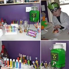 Monster Scientist 6th Birthday Party tons of cute ideas and printables!
