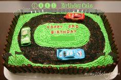 Race track cake ~ cars birthday cake idea
